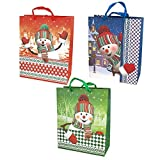 Homeford FVA00000GBC15SNO Gift Bag, 12-1/2'', Assorted