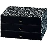 Nips Eco Line 32 x 24.5 x 18cm A4 Silva Drawer Box - Black/ White