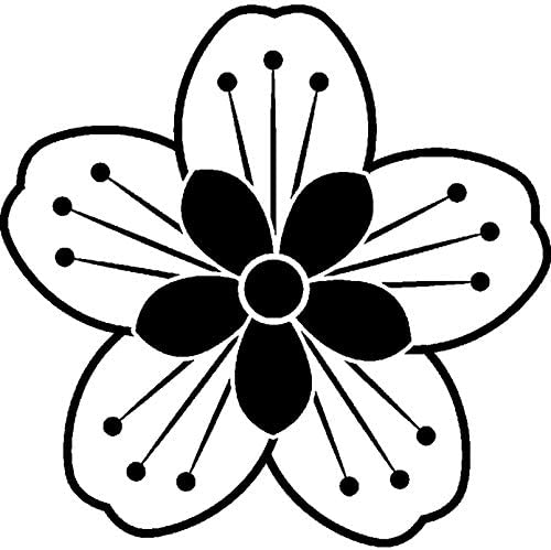 A8 Cherry Blossom Unmounted Rubber Stamp RS00022019