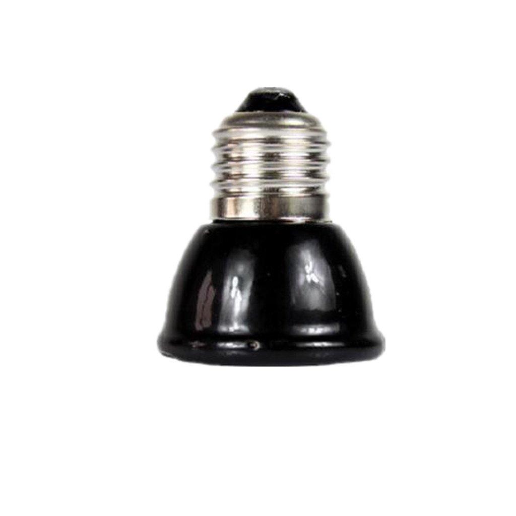 E27 Mini-infrarouge Céramique Ampoule Chauffant Eleveuse Lampe Globe pour Reptile Animal -Noir - Noir, 60W Generic
