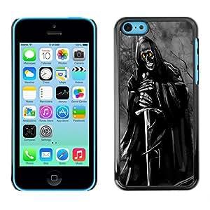 Jordan Colourful Shop - Grim Reaper Dark Demon Lord For iPhone 5Cs Custom black plastic Case Cover
