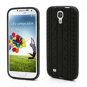 Carcasa de silicona marcas neumático Samsung Galaxy S IV/4. Negro