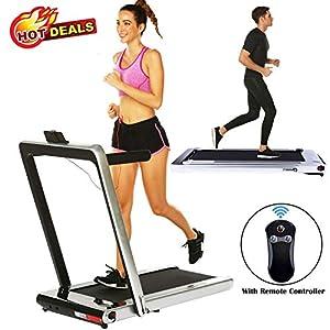 2 in 1 Under Desk Folding Treadmill,Electric Motorized Portable Pad Treadmills Walking Jogging Running Exercise Fitness…