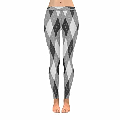 d9bba4cc4b9 INTERESTPRINT Abstract Argyle Check Houndstooth Stretchy Capri ...