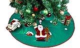 "Jolly Christmas Tree Skirt - 42"" Santa Xmas Tree Skirt Decorations (Green)"