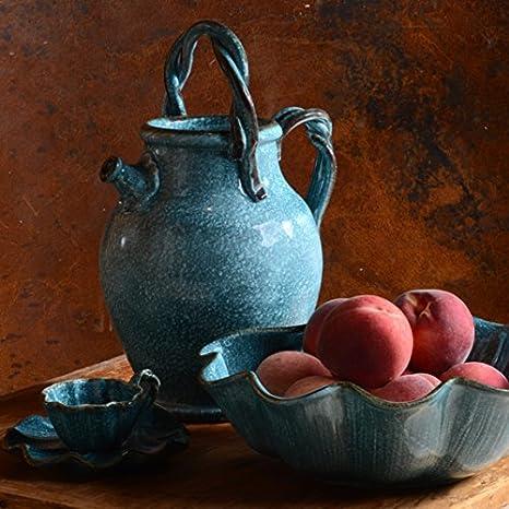 Italiano vajilla - hecha a mano en Italia de nuestra colección Capri: Amazon.es: Hogar