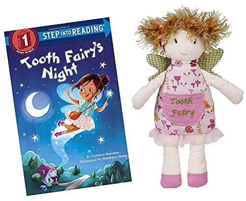 Fern the Tooth Fairy Doll Pillow for Girls by Maison Chic with Tooth Fairy's Night Book Gift Set (Tooth Fairy Doll)