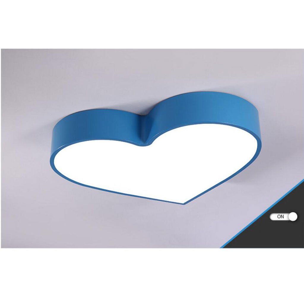 Ceiling light modern Cartoon Love Children's room boy girl bedroom personality kindergarten classroom ( Color : Blue , Size : A )