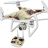 Skin For DJI Phantom 4 Quadcopter Drone – Pine Collage | MightySkins Protective, Durable, and Unique Vinyl Decal wrap cover | Easy To Apply, Remove, and Change Styles | Made in the USA