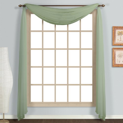 UPC 021371021715, United Curtain Monte Carlo Sheer Scarf, 59 by 144-Inch, Sage