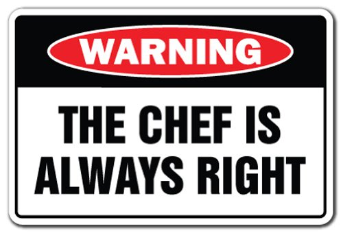 kiss the chef sign - 1