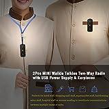 Super Mini Walkie Talkies, 2Pcs Two-Way Radio