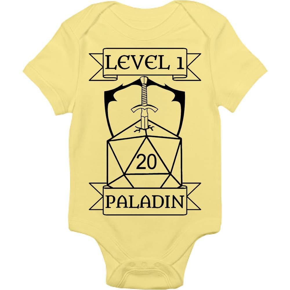 Gamer Bodysuit - Level 1 Paladin - Handmade Baby Cloths For Boys And Girls - Baby Shower Gift Idea
