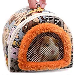 Portable Small Animals Hedgehog Hamster Carrier Bag Lightweight Easy to Clean Zipper Breathable Guinea Pig Rat Chinchillas Hamster Hedgehog Outdoor Travel Carrier Pounch Bag for Small Animal Carrier