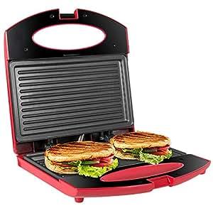 OZAVO Sandwichera Grill,Placas de Grill Electricas Antiadherentes 750W con Capacidad para 2 Sándwiches Tostadoras