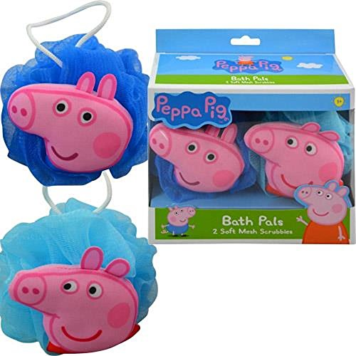 Peppa Pig Bath Set - Body Wash and Two Mesh Scrubbies Bubble Gum Scent ()