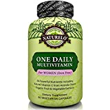 NATURELO One Daily Multivitamin for Women - IRON FREE – Natural Menopause Support - Best for Women Over 40 & 50 - Whole Food Supplement - Non-GMO - No Soy - Gluten Free - 60 Capsules | 2 Month Supply