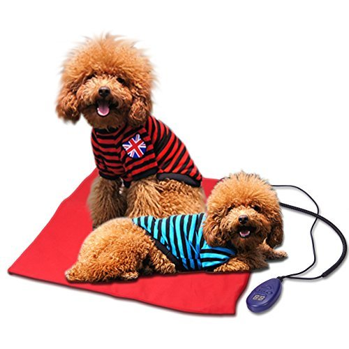 Heating Pads for Pets - Electric Heating Pad for Dogs &Cats Warming Dog Beds Pet Mat with Chew Resistant Cord Soft Removable Cover 19.5X19.5IN