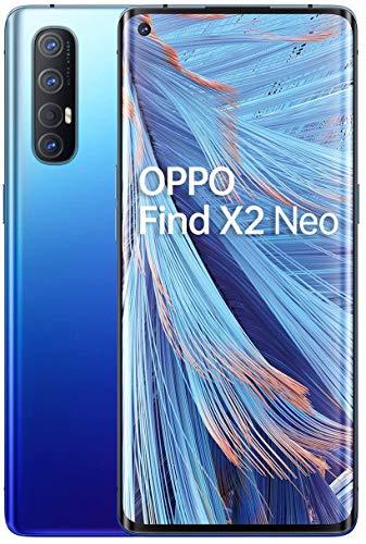 OPPO Find X2 NEO 5G – Pantalla de 6.5″ (AMOLED, 12GB/256GB, Snapdragon 765G, 4.000 mAh, cámara trasera 48MP+13MP+8MP+2MP, cámara frontal 32MP, Android 10) Azul [Versión ES/PT]
