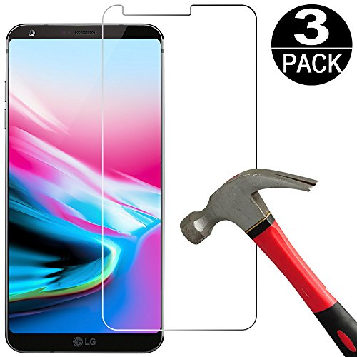 [ 3 Pack] LG G6 / LG G6 Plus Screen Protector Tempered Glass,[9H Hardness][Ultra Clear][Anti Scratch][Bubble Free] HD Tempered Glass Screen Protector Film for LG G6 / G6+ / Pro/Plus