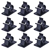 Adjustable Cable Clips Adhesive Nylon Wire Clamps, Black, 50 Pack
