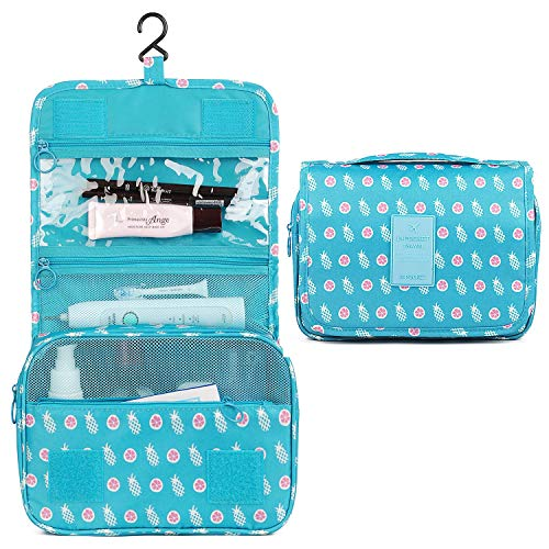 Girl Travel - Hanging Travel Toiletry Bag Cosmetic Make up Organizer for Women and Girls Waterproof (Pineapple)