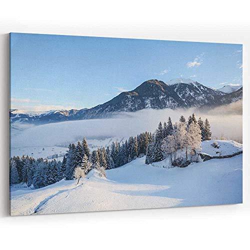 Dreamy Winter Landscape in Austrian Alps Near Salzburg Canvas Prints Wall Art for Home Decor (Best Lakes Near Salzburg)