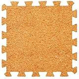 Cork Top Interlocking Foam Mats - Perfect for Floor Protection, Garage, Exercise, Yoga, Playroom. Eva foam (9 tiles, Cork)