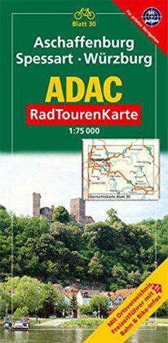 ADAC Radtourenkarte Aschaffenburg, Spessart, Würzburg: 1:75000