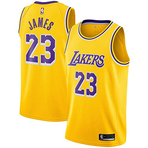 #23 Lebron James Los Angeles Lakers 2018-19 Swingman Jersey Gold - Icon Edition M
