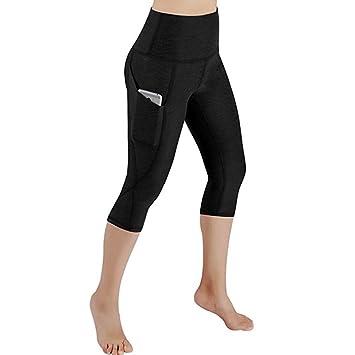 Jinjinxiang Pantalones de Yoga de Cintura Alta para Mujeres ...