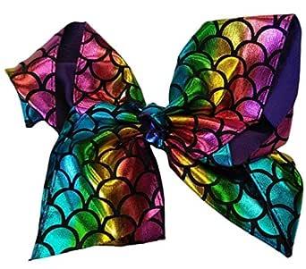 "JoJo Siwa style 8"" Bows Grosgrain Ribbon (Multicolored)"