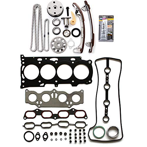 ECCPP 13540-0H010 Timing Chain kit Head Gasket Set Fits for 2008 2009 2010 2011 Scion xB,2006 2007 Toyota Highlander,2009 Toyota Matrix,2006 2007 2008 Toyota Solara ()