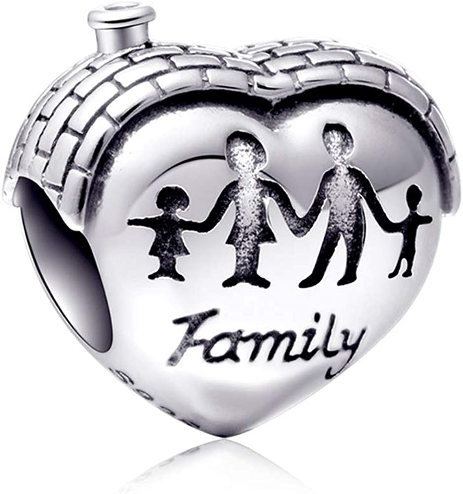 Sambaah Family Charm Sterling Silver Nana Charm Enamel Charm for Pandora Style Bracelets