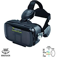 Virtual Reality Camera Photo Binoculars Goggles, 120° FOV, VR 3D Glasses Works with 4.0 - 6.5 Inch IOS & Android Smartphone by 45.99