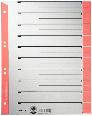 100 St Ordner Trennblätter Trennstreifen Register 230g rot A4 blanko Karton