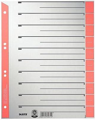 Leitz 16523025 - Separador para archivadores - Pack de 25: Amazon ...