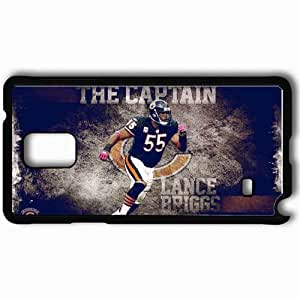 Personalized Samsung Note 4 Cell phone Case/Cover Skin 956 chicago bears Black