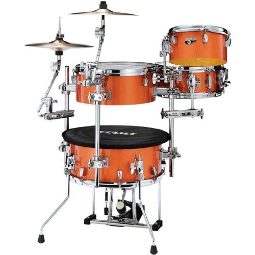 Tama Cocktail Jam 4-piece Shell Pack with Hardware - Bright Orange Sparkle ()