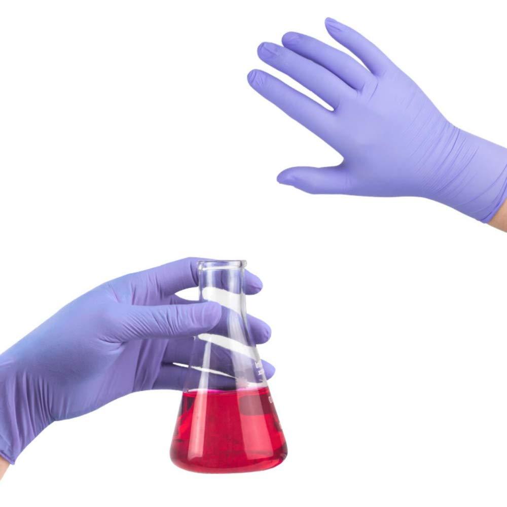 S anallergici 100 guanti in nitrile viola usa e getta media taglia: S//M//L resistenti allusura senza lattice 100 Viola chiaro