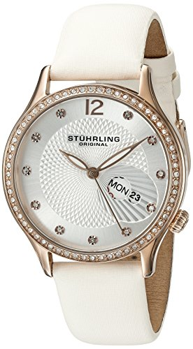 Stuhrling Original Women's 801.03 Analog Display Quartz White Watch