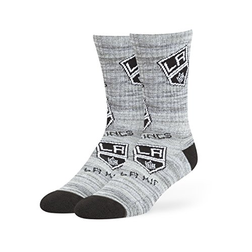 NHL Los Angeles Kings Men's Percy Sport Crew Socks, Medium, Gray