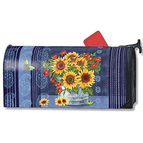 - MailWraps Denim Sunflowers MailWrap Mailbox Cover 01440