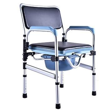 DWhui Silla de baño Plegable Silla de baño sillas de Ruedas Muebles de aleación de Aluminio