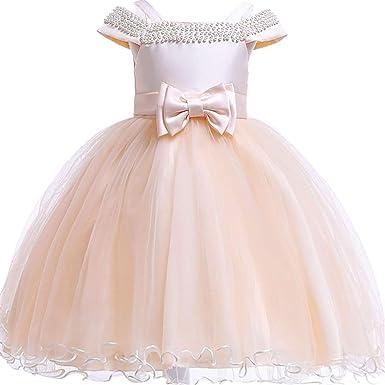 8b1f1214594 4T Dresses for Girls Knee Length Party Summer Flower Dresses for Kids 3T  Wedding Ball Gowns