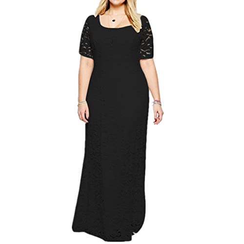 Janlyy Womens Wedding Evening Party Full Lace Maxi Dress