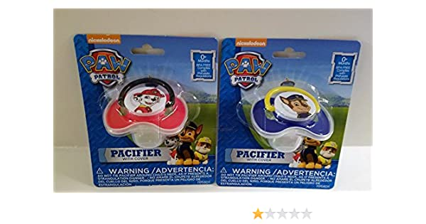 Amazon.com : 2 Paw Patrol Pacifiers with Covers for Boys : Baby