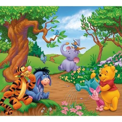 Pooh Mural - Disney Winnie the Pooh Removable Self-stick Mural