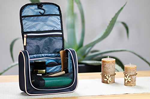 high bugatti keyring Lido made women blue quality of Bag Toiletry for nylon Ladies YqaCgYp