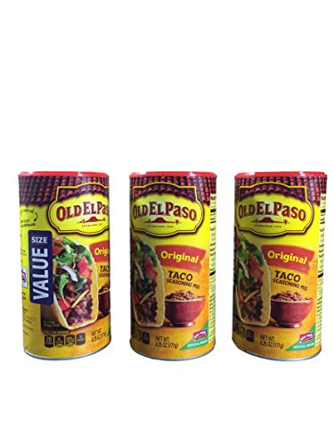 Old El Paso Taco Seasoning Mix, 6.25-ounce Canisters (Pack of 3)